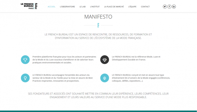 Image d'une section du site