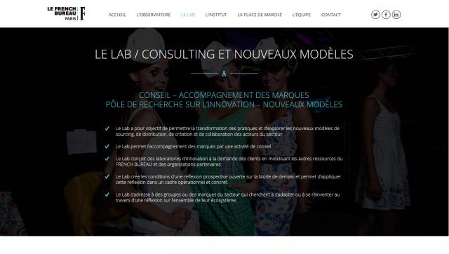 Image d'une section du site avec background image