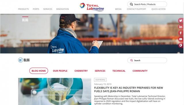 Total Lubmarine Blog accueil