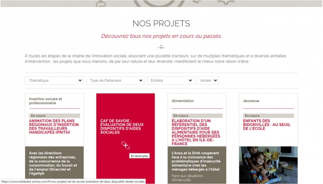 Page projets