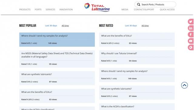 Total Lubmarine FAQ accueil 2