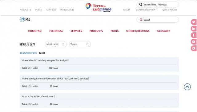 Total Lubmarine résultats de recherche FAQs