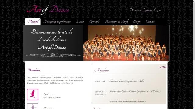 Art of Dance frontpage top