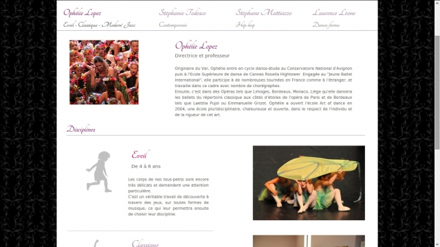 Art of Dance teacher's page