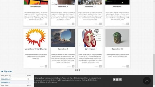 BSC Innovation Challenge page d'accueil bas (version lorem ipsum)