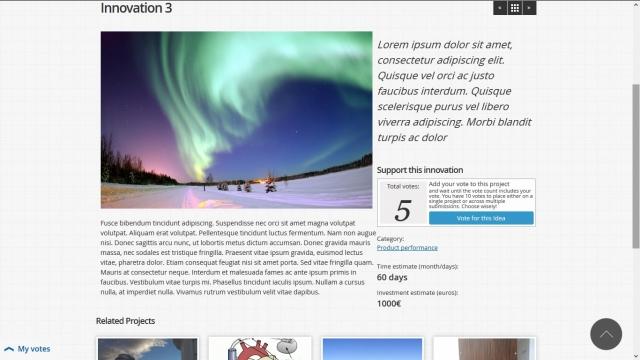 BSC Innovation Challenge page projet (version lorem ipsum)