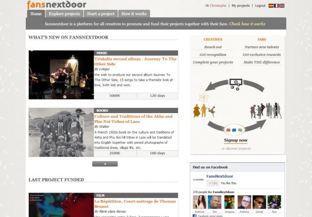 Fansnextdoor Homepage
