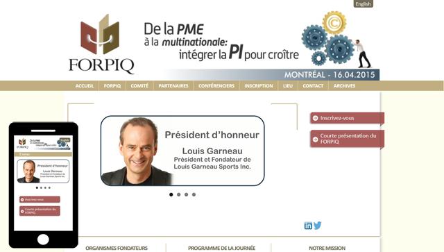 Forpiq responsive website