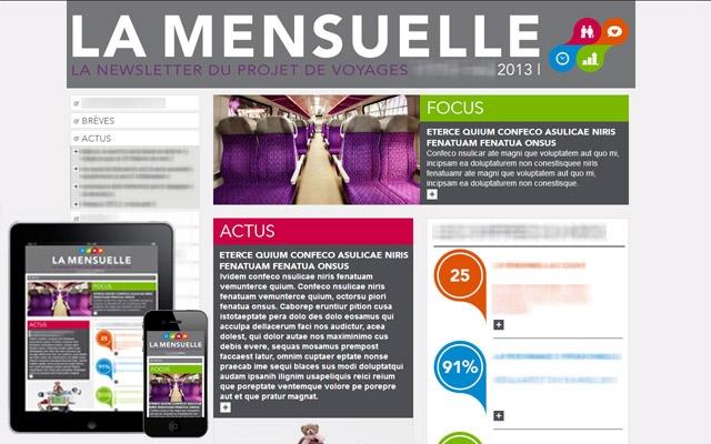 La Mensuelle page d'accueil 3 formats adaptatifs