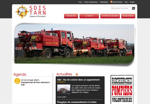 SDIS 81 frontpage