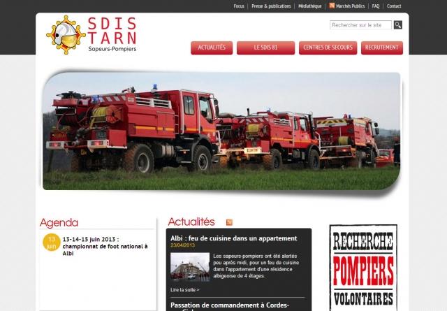 SDIS 81 page d'accueil
