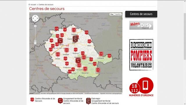 SDIS 81 centres de secours