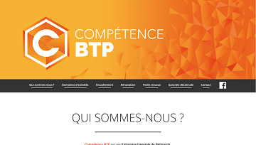 Image of Competence BTP website