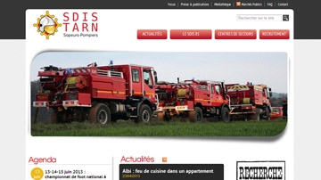 SDIS 81 website