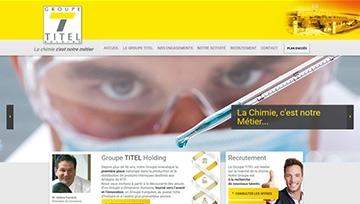 Groupe Titel website homepage