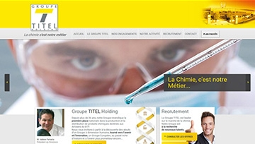 Groupe Titel website homepage